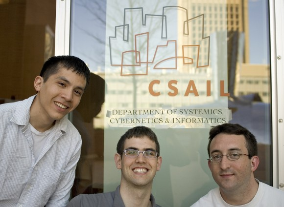 left to right: Dan Aguayo, Max Krohn, Jeremy Stribling