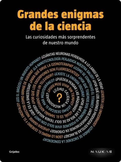 Dibujo20140308 book cover - grandes enigmas de la ciencia - naukas grijalbo