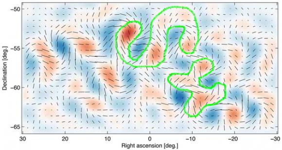 Dibujo20140418 Stephen Hawking SH in CMB - B-mode polarization