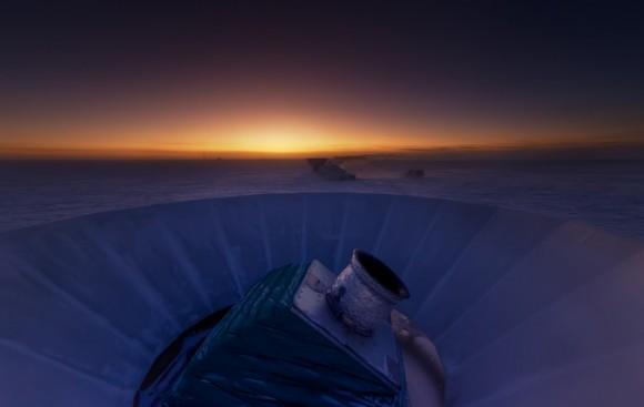 Dibujo20140423 bicep2 telescope - south pole - harvard univ