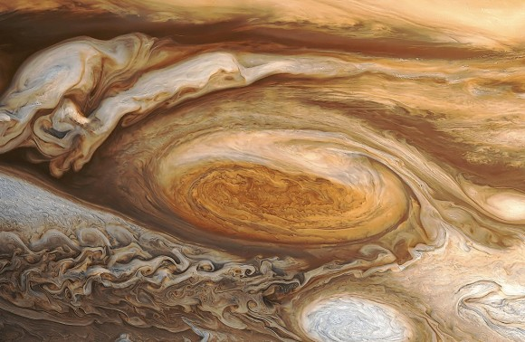 Dibujo20140528 Reprocessed view by Bjorn Jonsson - Great Red Spot taken by Voyager 1 in 1979