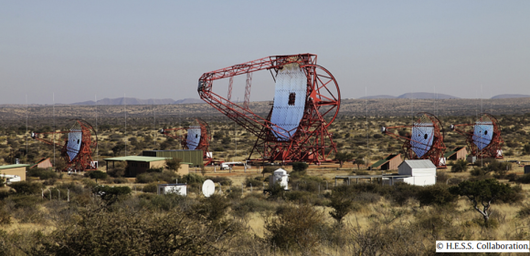 Dibujo20140702 h e s s array in namibia - hess collaboration