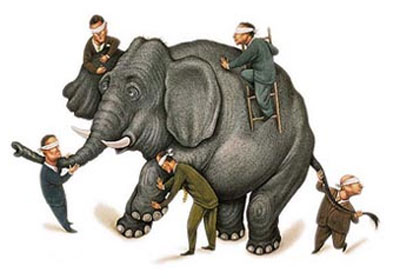 Dibujo20140707 blind men and elephant