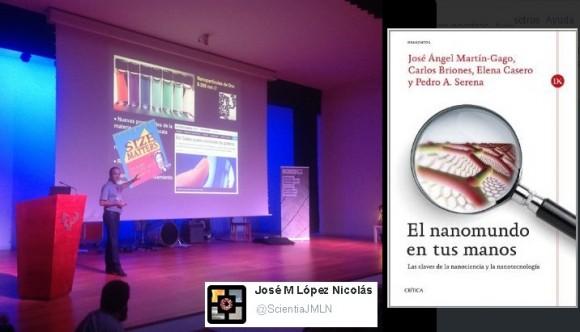 Dibujo20140929 Carlos Briones - book cover nanomundo - photo by jose m lopez scientia