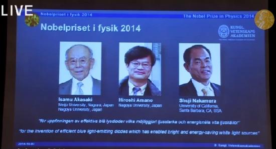 Dibujo20141007 nobel prize physics 2014 - akasaki - amano - nakamura - live youtube nobelprize org