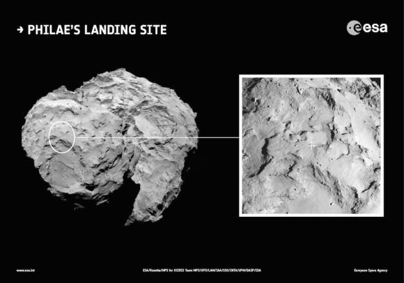 Dibujo20141109 ESA_Rosetta_LandingSite_primary -esa