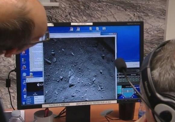 Dibujo20141112 philae - first image of 69P chury comet - rosetta - esa