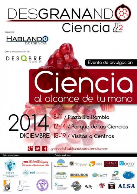 Dibujo20141211 poster desgranando ciencia - hablando de ciencia - fundacion desqbre