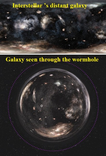 Dibujo20150213 insterstellar movie - distant galaxy - seen through wormhole - AJP