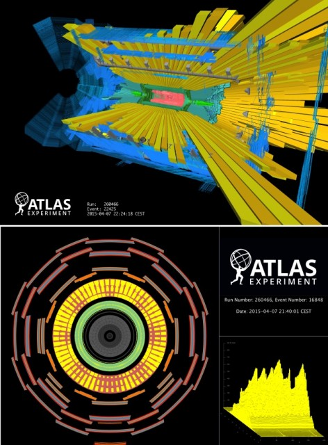 Dibujo20150517 beam splash - atlas - lhc cern