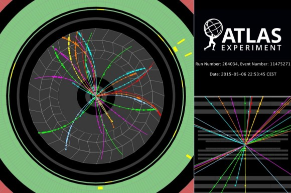 Dibujo20150517 event - atlas - proton-proton collisions at 900 gev cm - atlas lhc cern