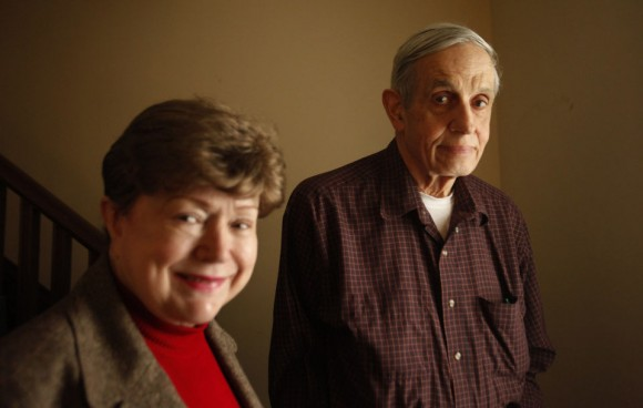Dibujo20150524 john Nash - wife Alicia - Princeton home 2009 - photo by john o boyle - the star-ledger