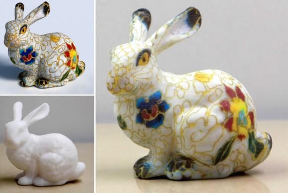 Dibujo20150529 colorful bunny - computational hydrographic printing - siggraph 2015 - acm tog