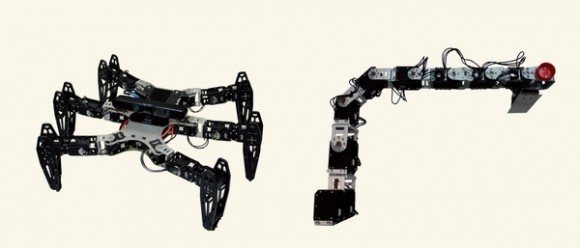 Dibujo20150530 adaptive machines - hexapod - robotic arm - nature com