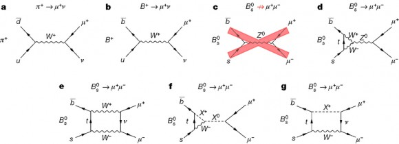 Dibujo21450513 feynman diagrams related to b0 to mumu decay - nature14474-f1