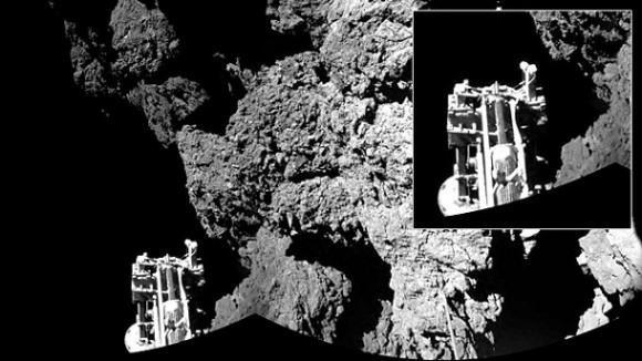 Dibujo20150627 philae - 67p comet - esa