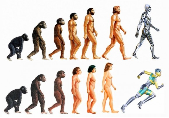 Dibujo20150630 transhumanism - incorrect illustration of evolution