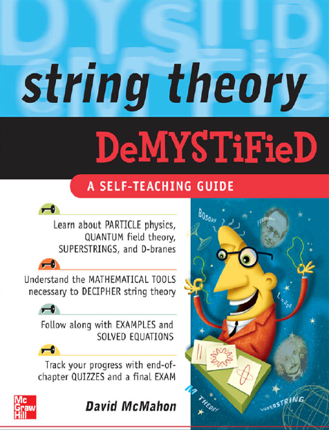 Dibujo20150707 book cover - string theory demystified - david mcmahon - mcgraw-hill