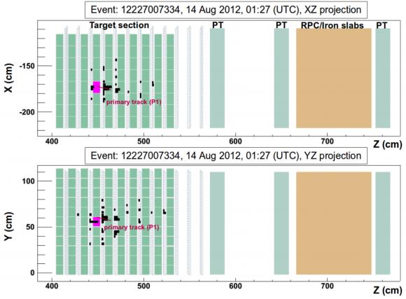 Dibujo20150707 display tau neutrino candidate event - opera infn