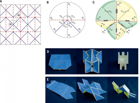 Dibujo20150729 Origami  waterbomb pattern for zero- and nonzero-thickness panels and thick-panel origami - science mag org
