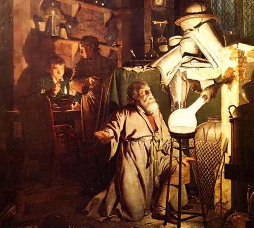 Dibujo20150805 Alchemist - detalle - Joseph Wright - curiosidad - philip ball