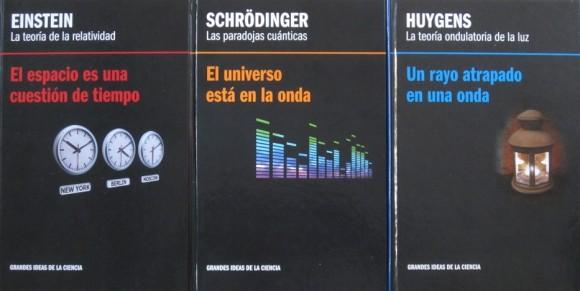 Dibujo20150829 book covers - einstein - schrodinger - huygens - rba - david blanco