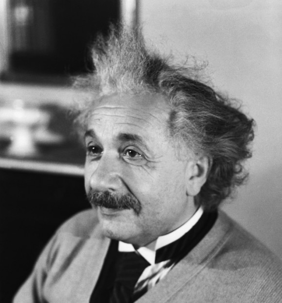 1933 --- Original caption: Albert Einstein, (1879-1955), is shown.  He was awarded the Nobel Prize for Physics in 1921. --- Image by © Bettmann/CORBIS