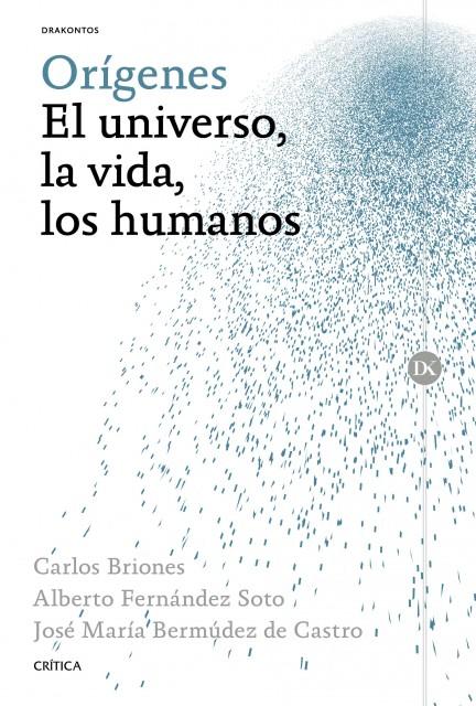Dibujo20151017 book cover Origenes-El-universo-la-vida-los-humanos briones et al critica drakontos planeta