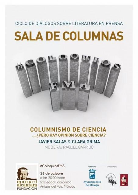 Dibujo20151026 Columnismo de ciencia - javier salas y clara grima - poster