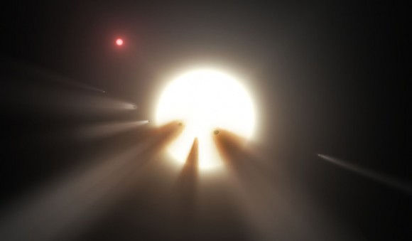 Dibujo20151125 shattered comet star KIC 8462852 Kepler and Spitzer space telescopes universetoday com
