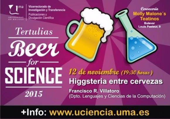 Dibujo20151109 poster higgsteria entre cervezas beer for science malaga