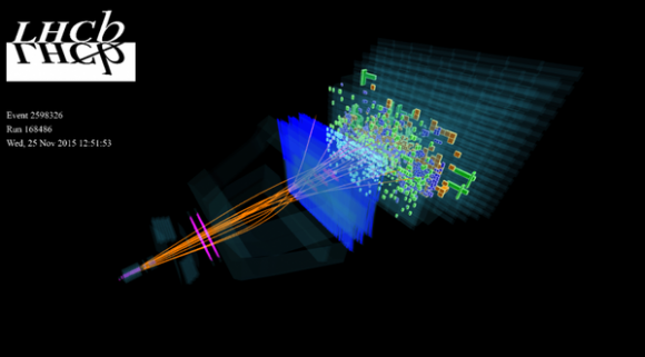 Dibujo20151125 first lead-lead collisions lhcb detector 5 tev lhc cern