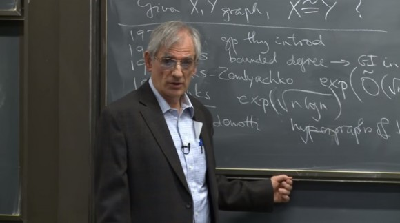 Dibujo20151210 Graph Isomorphism in Quasipolynomial Time seminar lecture by Laszlo Babai university chicago