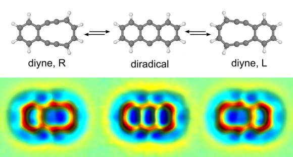 Dibujo20160125 ibm scientist observe reactions from diyne R diradical and diyne L nature chem