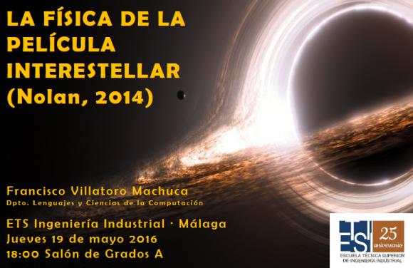 Dibujo20160512 Conferencia Fisica Pelicula Interstellar ETSI Ind Univ Malaga