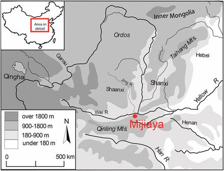 Dibujo20160524 Geographical Location of the Mijiaya Site PNAS org