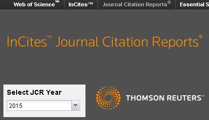 Dibujo20160614 journal citation reports 2015 thomson reuters