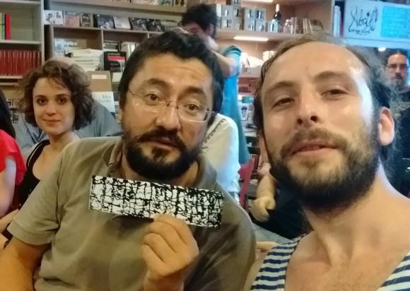 Dibujo20160623 selfi con migulios y raven_neo sevilla presentacion book disecciones next door publishers