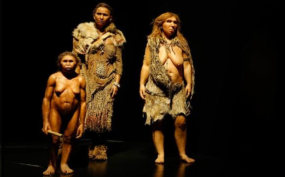 Dibujo20160704 models representing a Homo floresiensis a Homo Sapiens and a Neanderthal homo-floris_3575648b