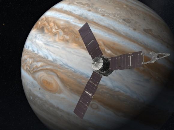 Dibujo20160709 juno nasa near jupiter artist impression NASA JPLjpg