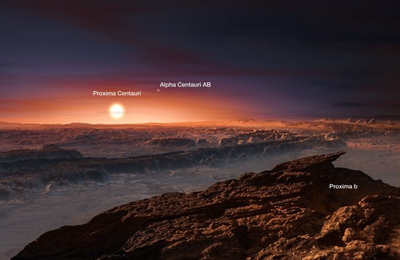 Dibujo20160825 artist recreation proxima b ESO M  Kornmesser eso1629j