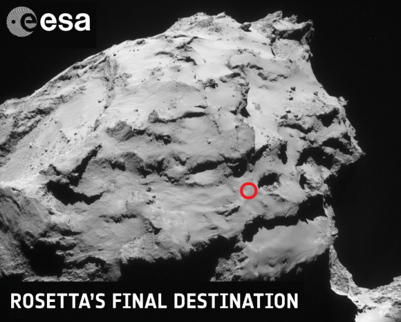 Dibujo20160905 rosetta final position in 67p esa int