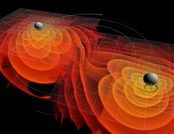ondas-gravitacionales-fundacion-areces-merging-black-holes-wikipedia-commons