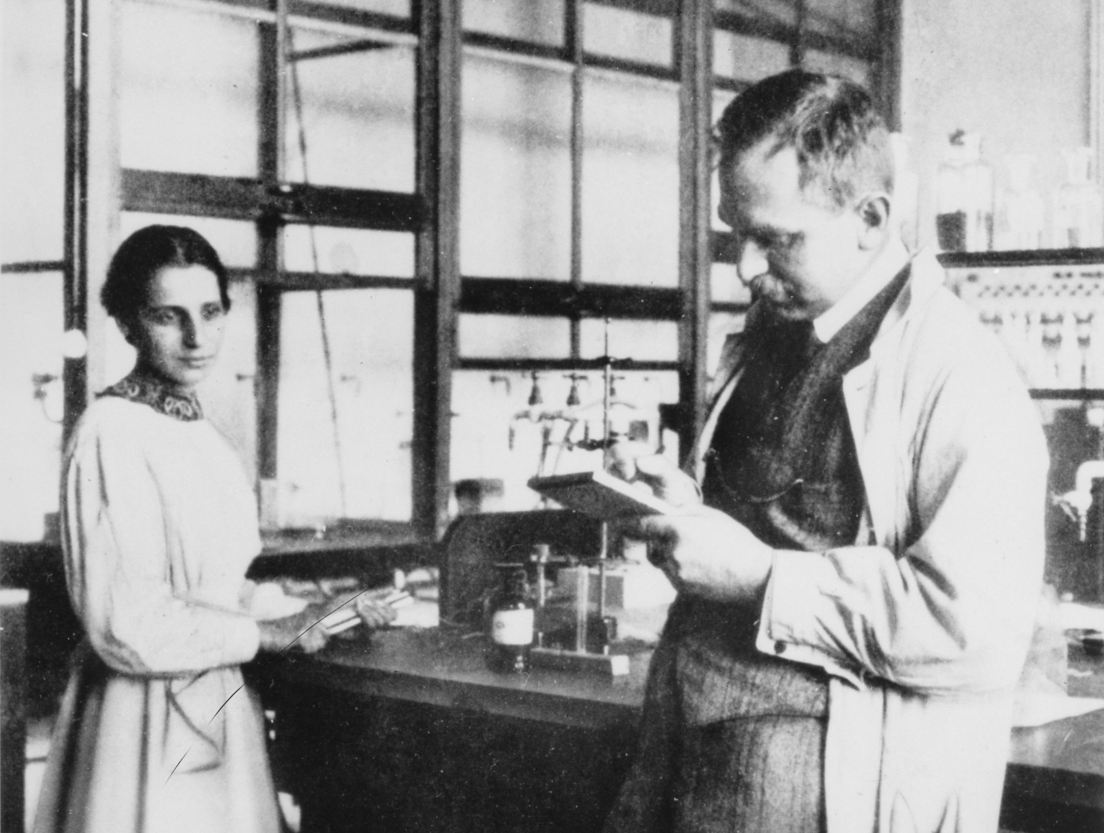 Otto Hahn y Lise Meitner