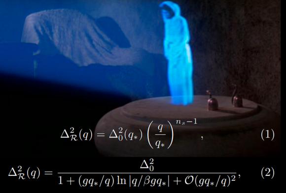 Dibujo20170201 holographic universe versus LCDM universe with hologram star wars