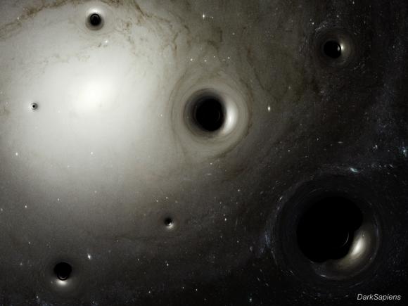 Dibujo20170210 black holes as gravitational lenses by darksapiens hector vives-arias