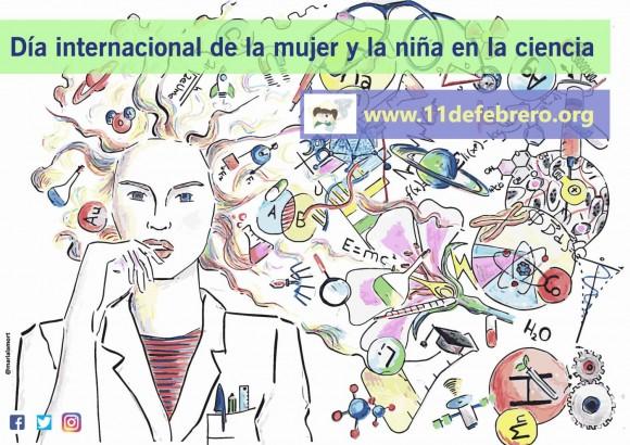 Dibujo20170210 cartel 11febrero org dia internacional de la mujer de na ninya en la ciencia