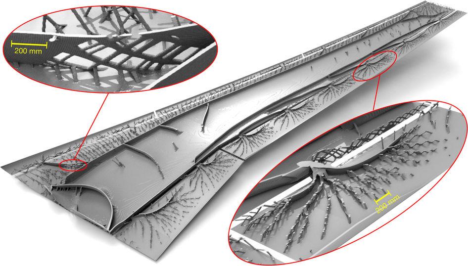 Diseño mecánico estructural morfogenético de un ala de avión ...