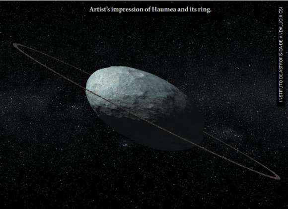 Dibujo20171012 artist impression haumea and ring 10 1038 nature24051