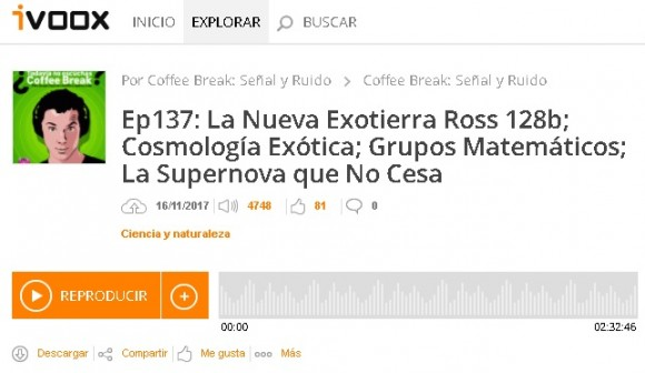 Dibujo2017117 coffee break podcast ep 137 nueva exotierra cosmologia etc